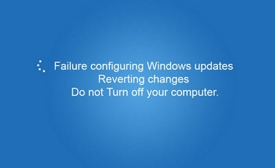 Failure configuring windows updates - reverting changes