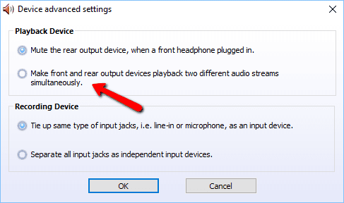 2017 11 07 2128 001 - Realtek Switch Audio Output Between Back vs Front Panel On Desktop