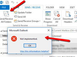 "Troubleshoot Outlook ""Not implemented"" Unable to Send Email Error"