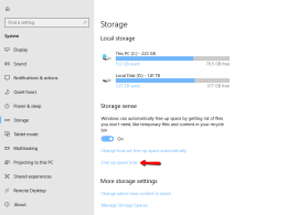 Windows 10 New Way to Free Up Disk Space