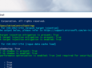 PowerShell - Get-SpeculationControlSettings - Patched