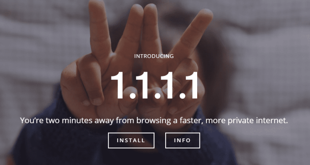 1.1.1.1 — the Internet's Fastest Privacy First DNS Resolver 2018 04 03 22 14 26 - Cloudflare Launched the Fastest, Privacy-First DNS Service