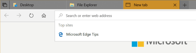 Edge tabs with File Explorer tabs - How To Use New Tabs in File Explorer in Windows 10