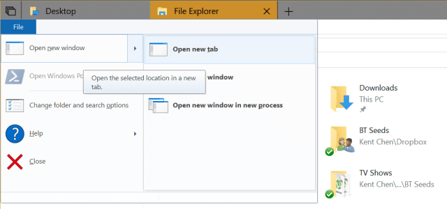 File Explorer opening a new tab - How To Use New Tabs in File Explorer in Windows 10