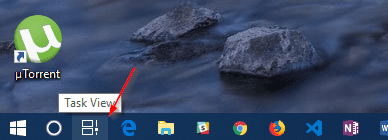 Task View button - How To Enable Disable and Use Timeline on Windows 10