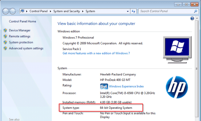 Windows 7 System - How To Tell If A Remote PC has A x64-based or x86 Processor on Windows
