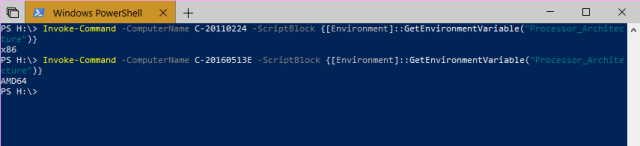 Windows PowerShell InvokeCommand - How To Tell If A Remote PC has A x64-based or x86 Processor on Windows