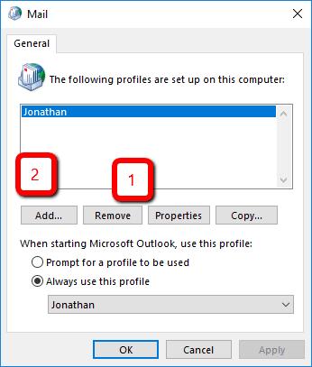 remove windows 10 profile
