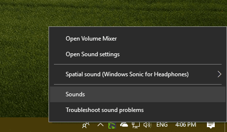 Right click speaker and sound - How To Automatically Mute Music When My Phone Rings