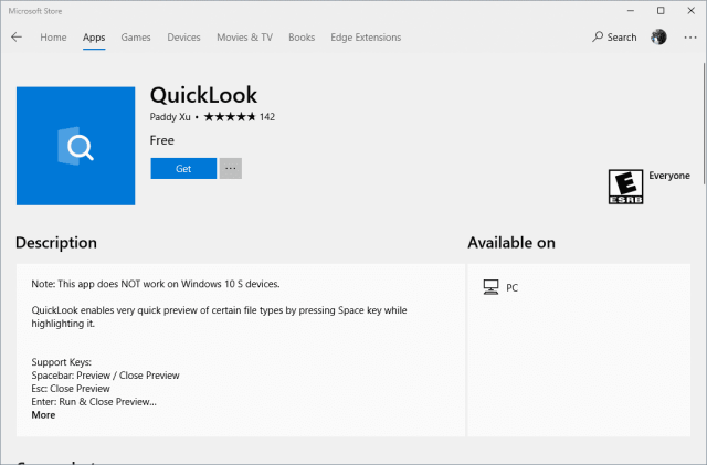image 3 - Bring Mac's QuickLook Feature to Windows 10