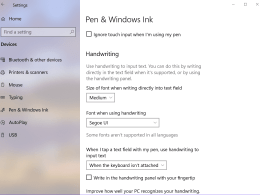 Windows 10 Tip: Write Directly in Textbox using Pen