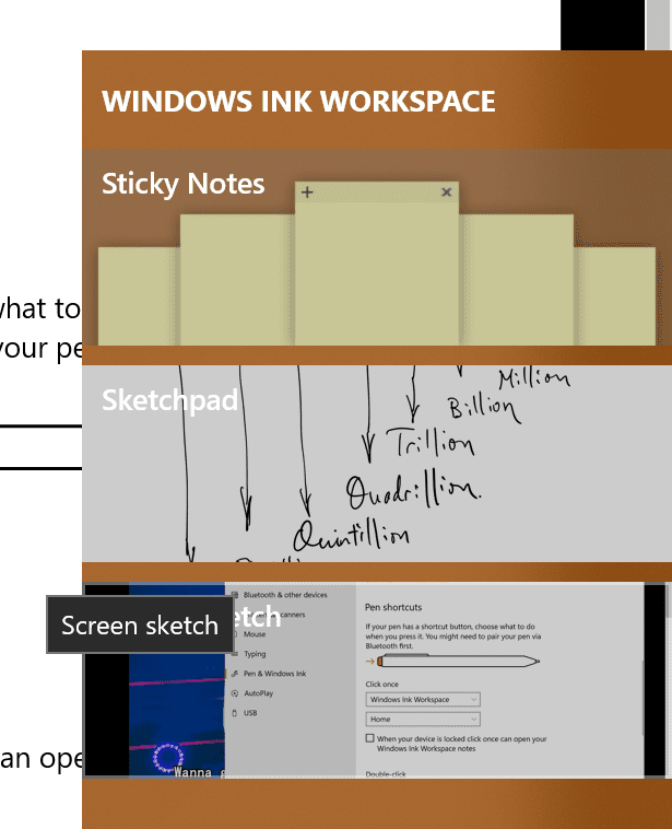 Windows Ink Workspace - How To Use Screen Sketch to Do A Screenshot on Windows 10