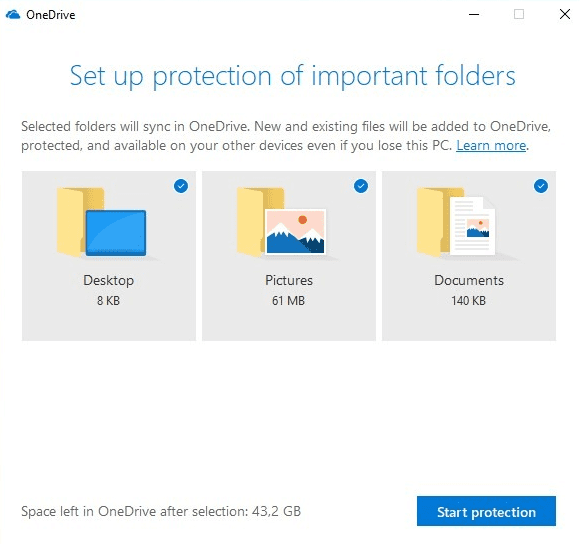image 3 - Sync Desktop, My Documents and Pictures Folder through OneDrive
