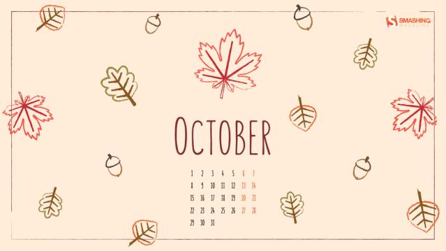 oct 18 hello fall full - Download Smashing Magazine Desktop Wallpaper October 2018 Windows 7/8/10 Theme