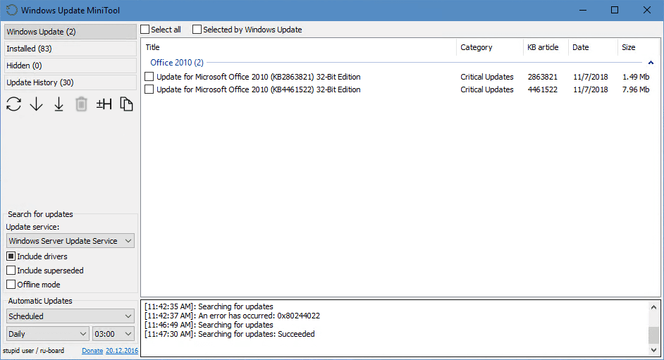 image 10 - Useful Free Tool - Windows Update MiniTool