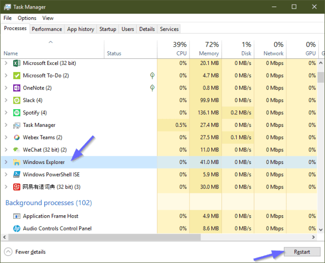 image 7 - 3 Ways to Restart Explorer Process in Windows 10