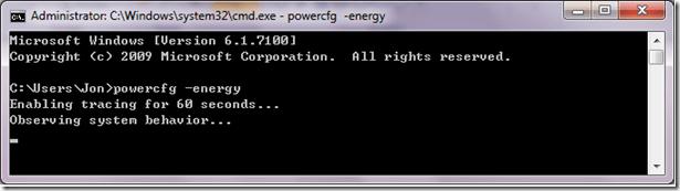 powercfg energy