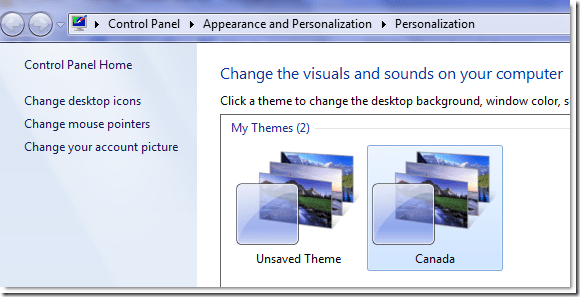 canada theme Windows 7