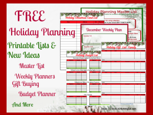 Free Holiday Planning Lists