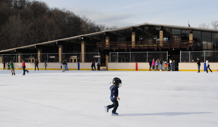 Ice skating at North Park. Photo by Michele Fetting.
