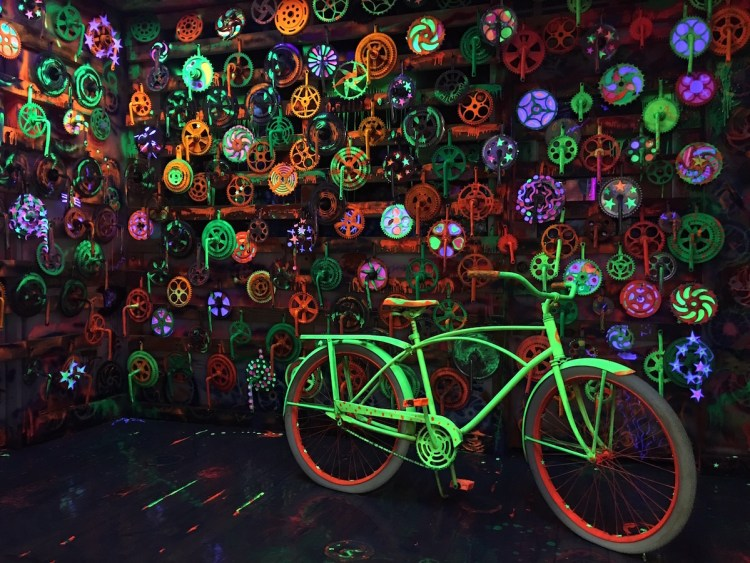 Inside The Groovy Room to see the day-glo sprockets.