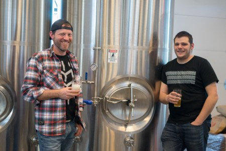 Brewers Marcus Cox (L) and Nick Jones (R).