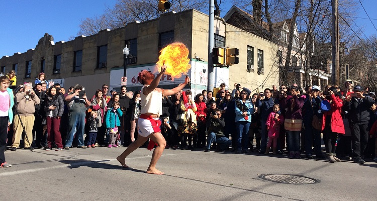 Lunar New Year performer. Image courtesy of Squirrel Hill Urban Coalition.