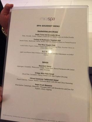 Bespoke Package lunch menu