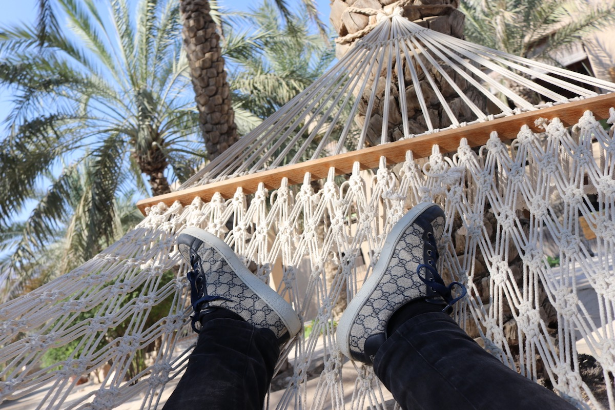 Chilling in hammock