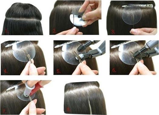 Remove The Iron And Use Your Fingers To Roll Melted Glue Around Hair Extensions Bond
