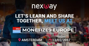 Let's learn and share together, meet us at Monetize9 Europe by MGI Research