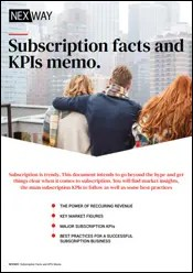 Subscription facts and KPIs memo