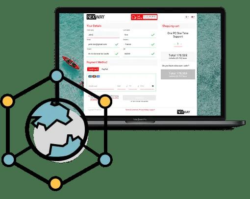 Software e-commerce platform