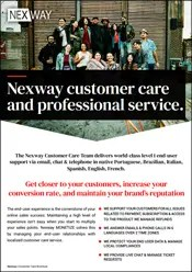 Nexway customer care and professional service.