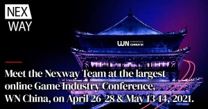 Meet the Nexway Team at the largest online Game Industry Conference, WN China, on April 26-28 & May 13-14, 2021