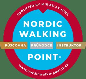 Zlatý Nordic Walking Point je nejvyšším stupněm certifikace, známkou kvality služeb v oblasti nordic walking / severské chůze.