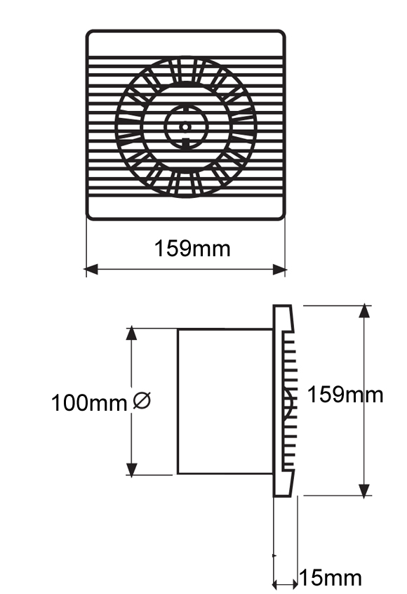 BAS100SLT Bathroom Kitchen Toilet Wall Mounted Extractor Fan By Vent Axia NFAN Supply Amp Stock