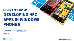 Title slide of the Lumia App Labs Webinar