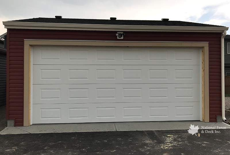 Custom Garages Calgary, Alberta from National Fence and Deck
