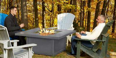 backyard fire table