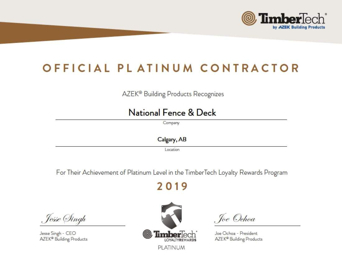 Platinum Deck Contractor