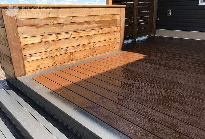 composite deck in color Saddle