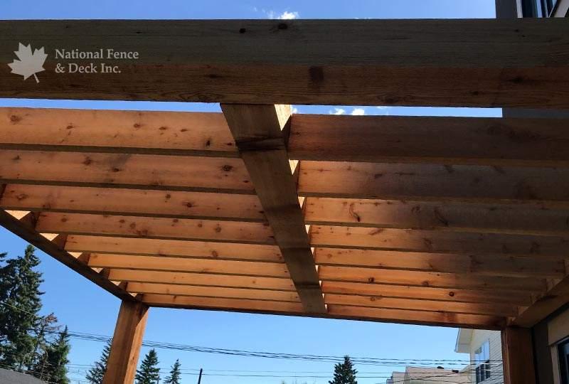 Simple, clean and modern cedar pergola.