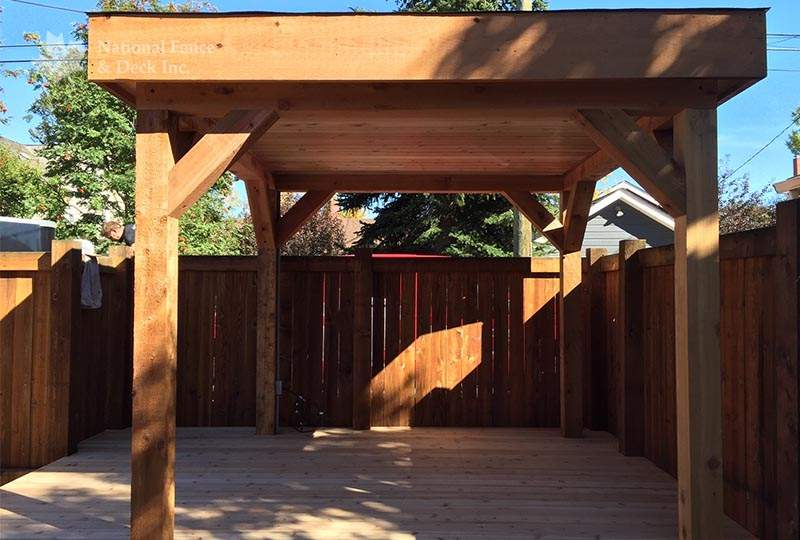 Covered deck gazebo