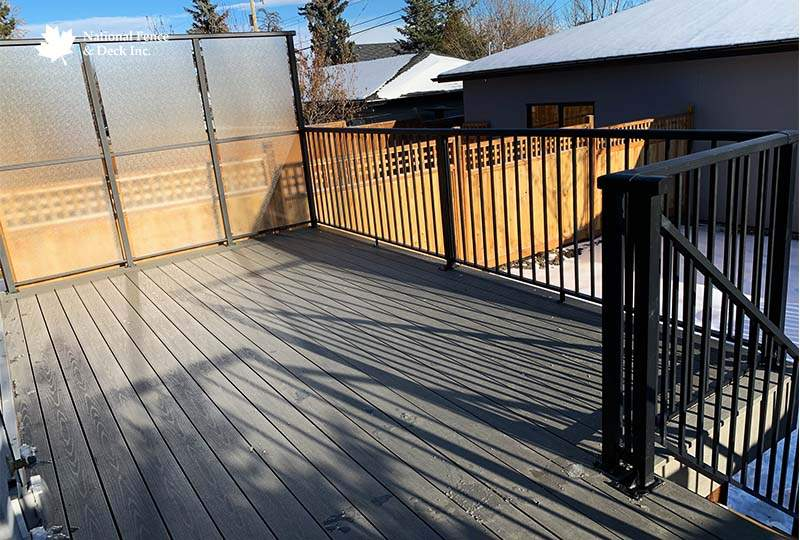 Aluminum Railing With Timbertech Silver Maple Decking