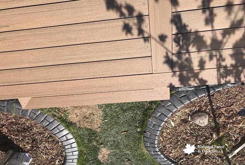 Timbertech Coconut Husk Ground Level Deck