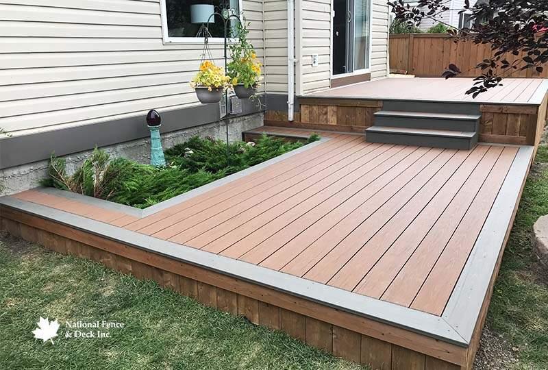 Timbertech Terrain Silver Maple and Brown Oak Composite Deck