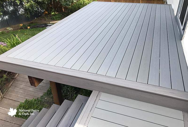 Timbertech Terrain's Silver Maple and Stone Ash Composite Decking