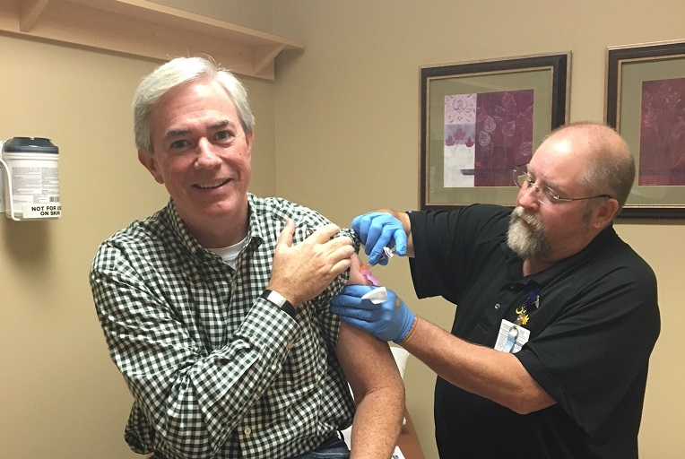 Kevin Rooney Getting Vaccinated 767x512