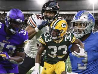 Aaron Jones, Packers, Dalvin Cook, Vikings, David Montgomery, Bears, D'Andre Swift, Lions,